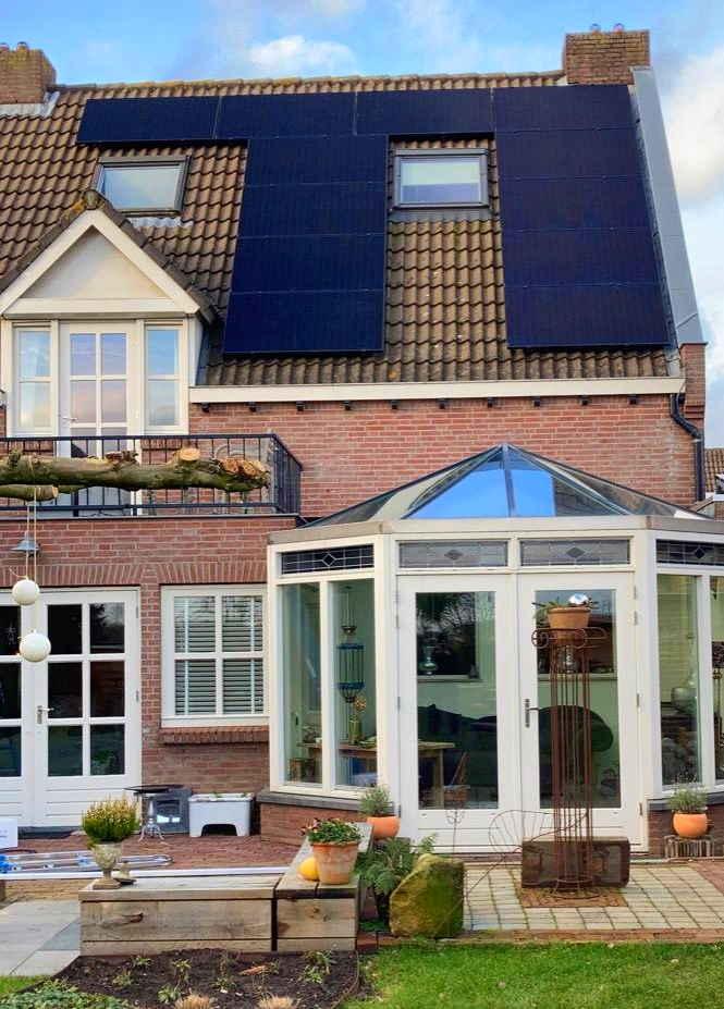 Klassieke woning met zonnepanelen