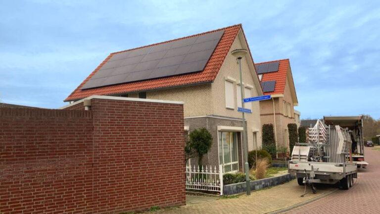 Vrijstaande woningen met zonnepanelen